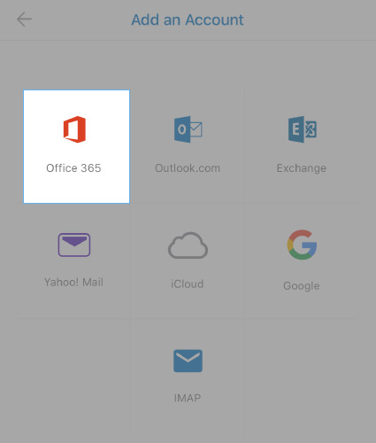 Select Office 365